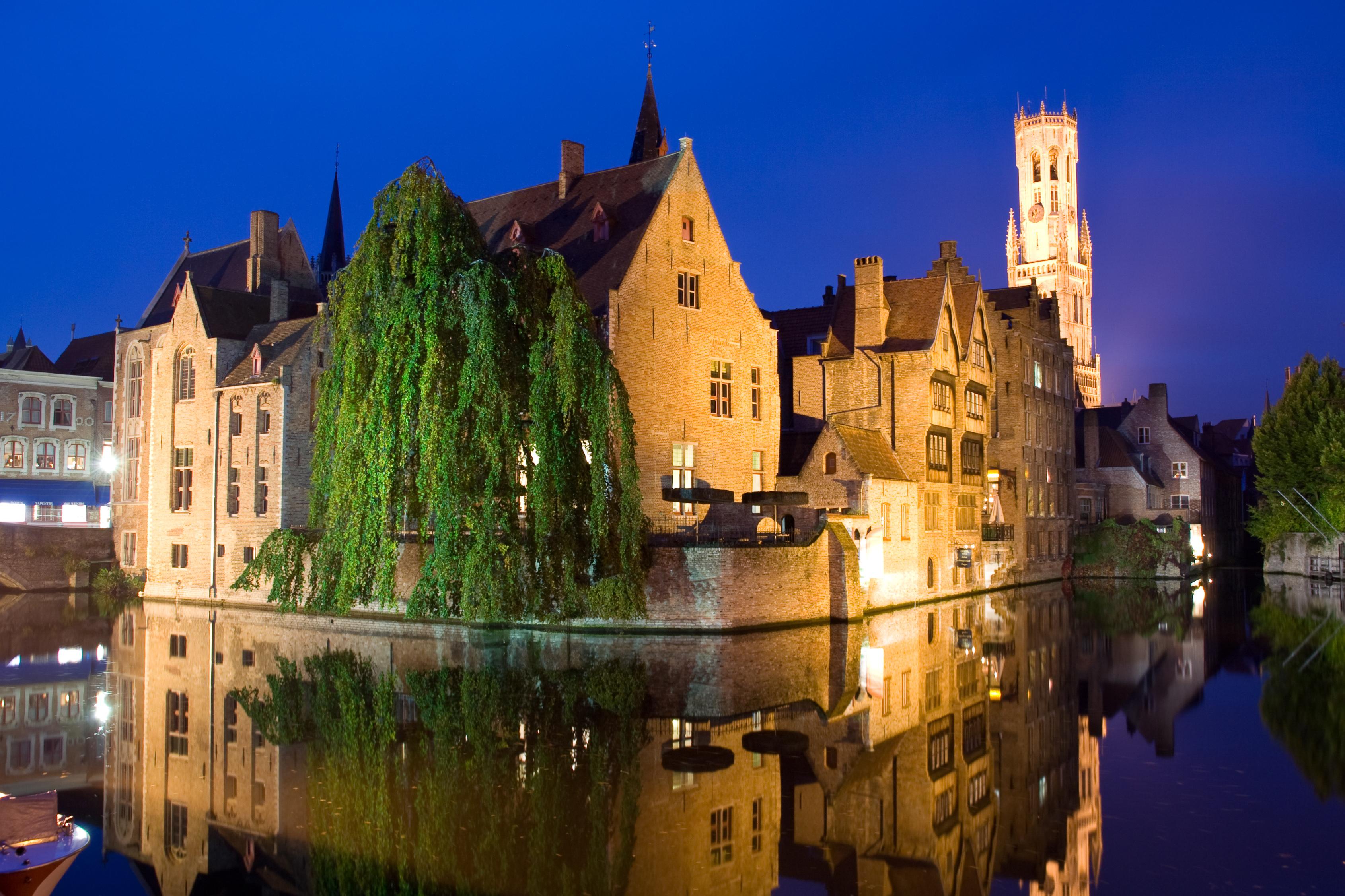 страны архитектура река Бельгия Брюгге  № 1730875 загрузить